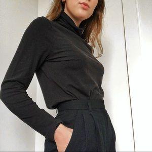 Black Turtleneck Long Sleeve